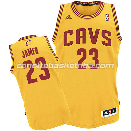 canotte basket bambini cleveland cavaliers lebron james #23 giallo