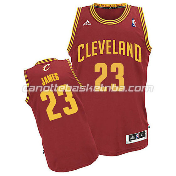 canotte basket bambini cleveland cavaliers lebron james #23 rosso