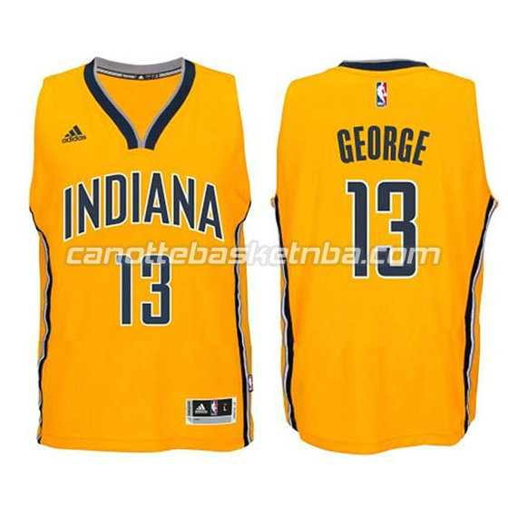 canotte basket bambini indiana pacers paul george #13 giallo