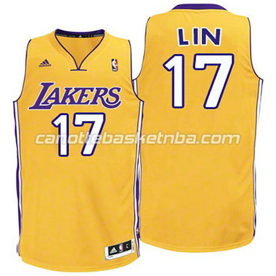 canotte basket bambini los angeles lakers jeremy lin #17 giallo