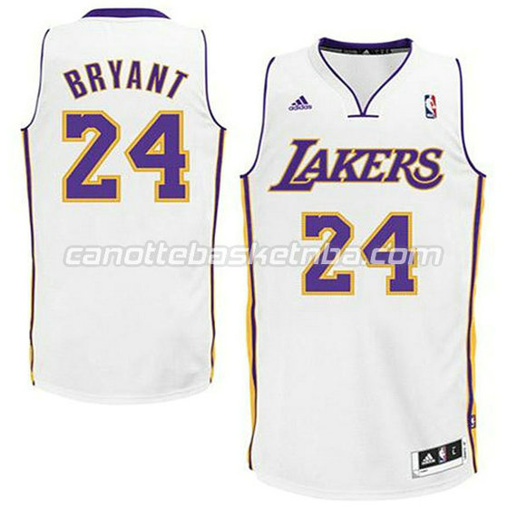 canotte basket bambini los angeles lakers kobe bryant #24 bianca