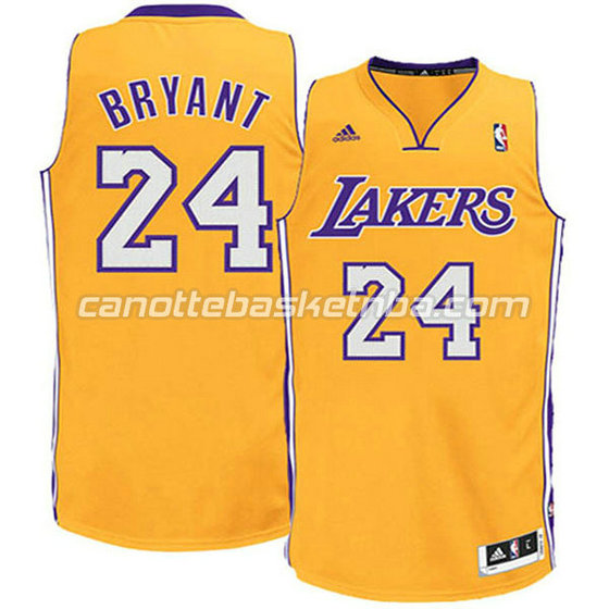 canotte basket bambini los angeles lakers kobe bryant #24 giallo