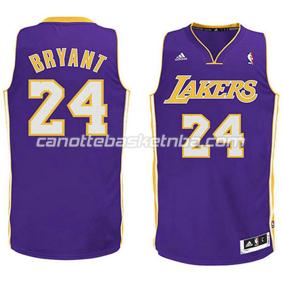 canotte basket bambini los angeles lakers kobe bryant #24 porpora