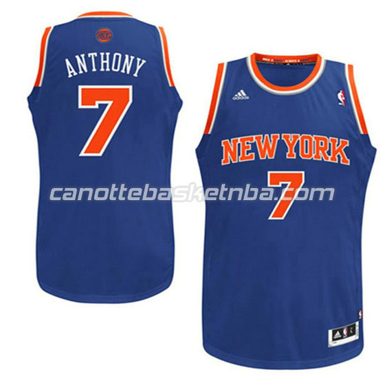 canotte basket bambini new york knicks carmelo anthony #7 blu