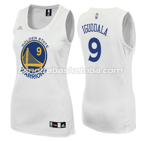 canotta basket donna andre iguodala #9 golden state warriors bianca