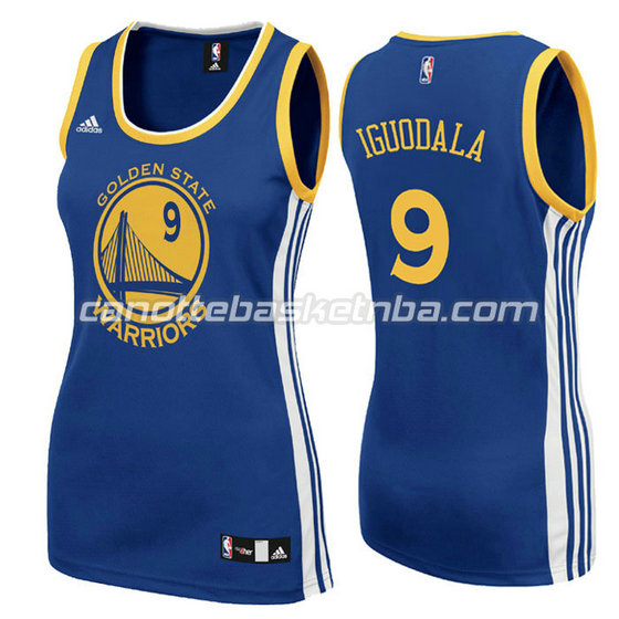 canotta basket donna andre iguodala #9 golden state warriors blu