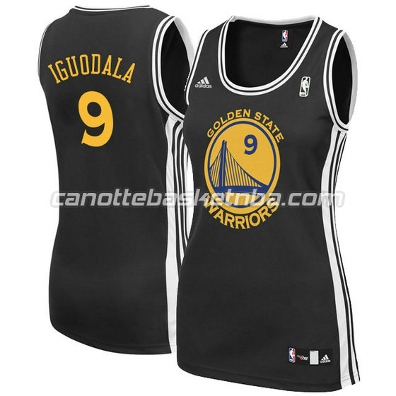canotta basket donna andre iguodala #9 golden state warriors nero