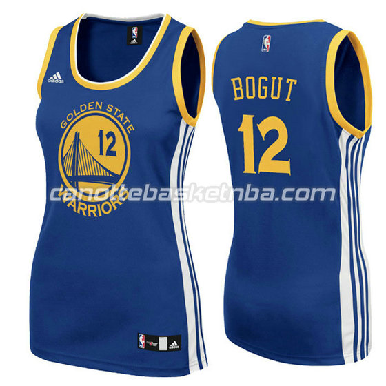 canotta basket donna andrew bogut #12 golden state warriors blu