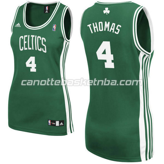 canotta basket donna boston celtics isaiah thomas #4 verde