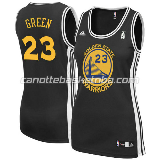canotta basket donna draymond green #23 golden state warriors nero