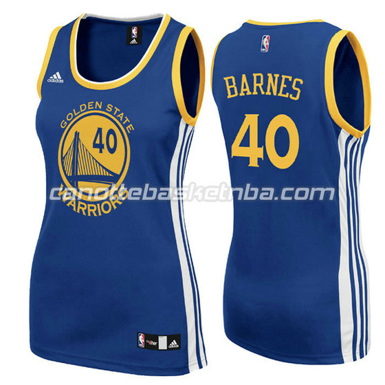canotta basket donna harrison barnes #40 golden state warriors blu