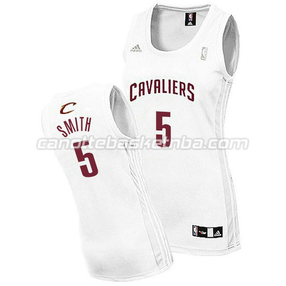 canotta basket donna jr smith #5 cleveland cavaliers bianca