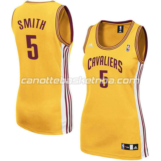 canotta basket donna jr smith #5 cleveland cavaliers giallo