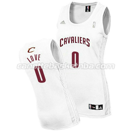 canotta basket donna kevin love #0 cleveland cavaliers bianca