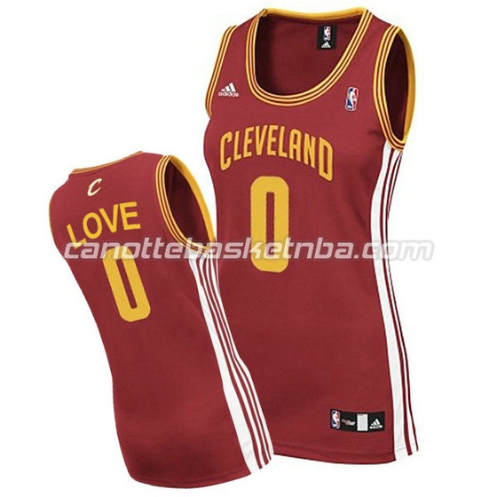 canotta basket donna kevin love #0 cleveland cavaliers rosso