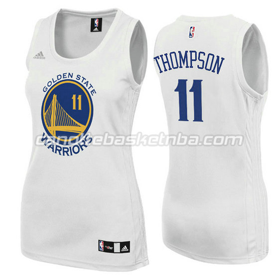 canotta basket donna klay thompson #11 golden state warriors bianca