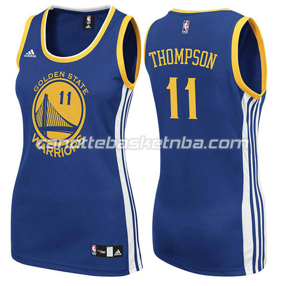 canotta basket donna klay thompson #11 golden state warriors blu