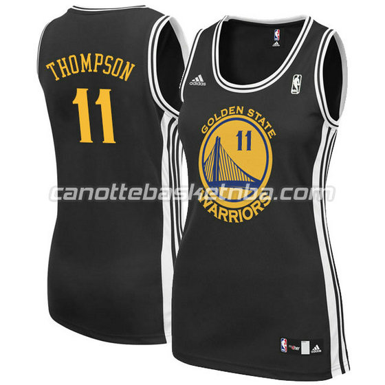 canotta basket donna klay thompson #11 golden state warriors nero