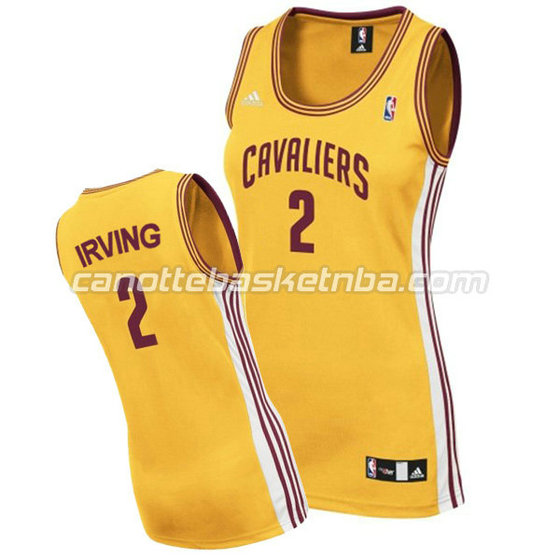canotta basket donna kyrie irving #2 cleveland cavaliers giallo