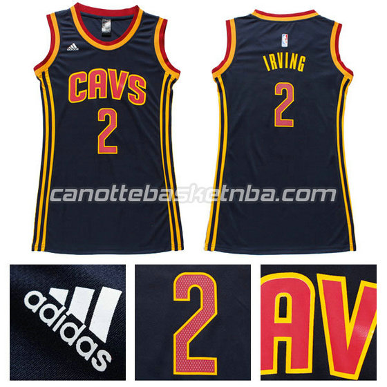canotta basket donna kyrie irving #2 cleveland cavaliers navy blu