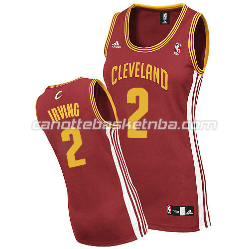 canotta basket donna kyrie irving #2 cleveland cavaliers rosso