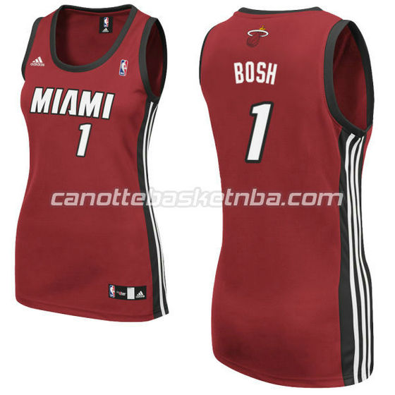 canotta basket donna miami heat con chris bosh #1 rosso