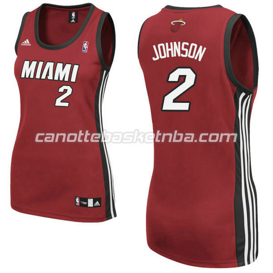 canotta basket donna miami heat con joe johnson #2 rosso