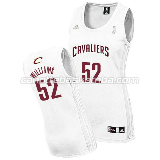 canotta basket donna mo williams #52 cleveland cavaliers bianca
