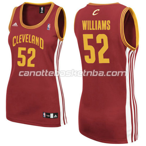 canotta basket donna mo williams #52 cleveland cavaliers rosso