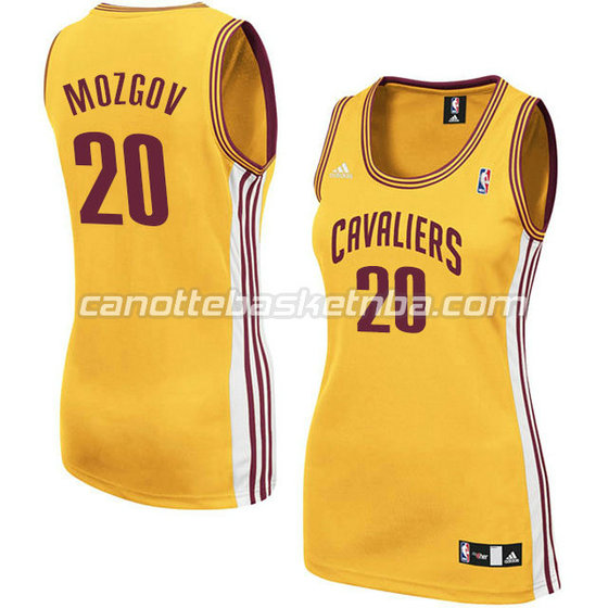 canotta basket donna timofey mozgov #20 cleveland cavaliers giallo