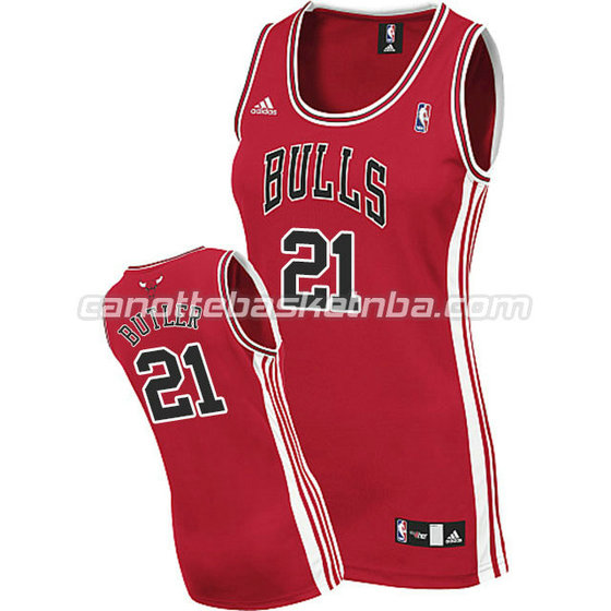canotta nba donna chicago bulls jimmy butler #21 rosso