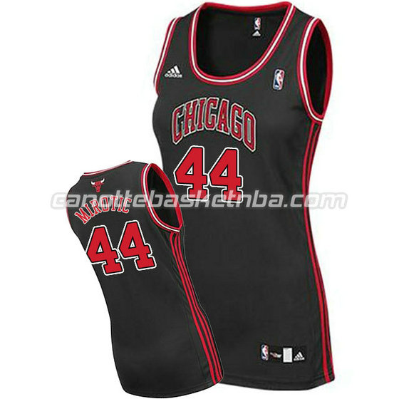 canotta nba donna chicago bulls nikola mirotic #44 nero