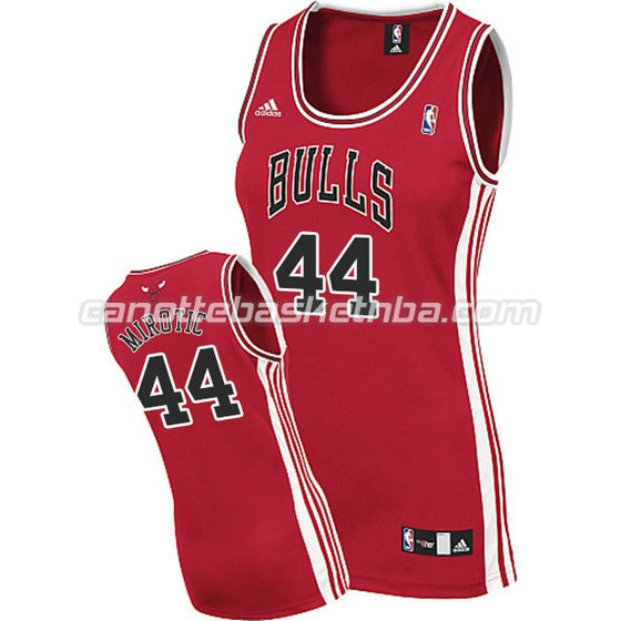 canotta nba donna chicago bulls nikola mirotic #44 rosso