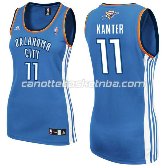 canotta nba donna oklahoma city thunder enes kanter #11 blu