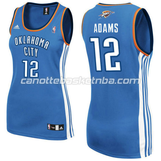 canotta nba donna oklahoma city thunder steven adams #12 blu
