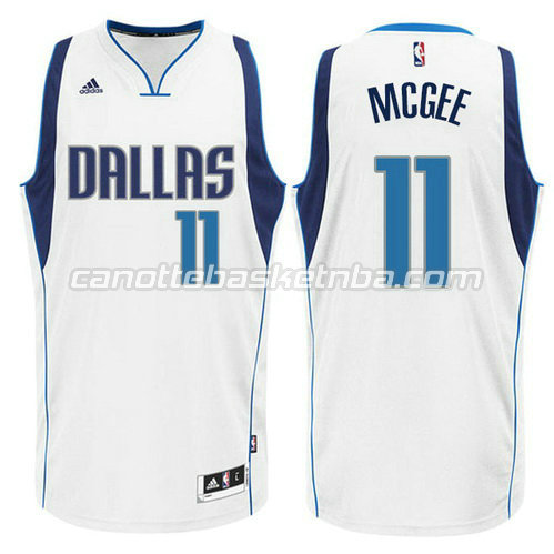 canotta JaVale McGee #11 dallas mavericks 2015 bianca