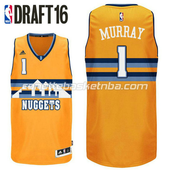 canotta jamal murray 1 denver nuggets draft 2016 giallo