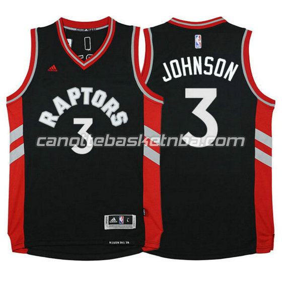 canotta james johnson 3 toronto raptors 2015-2016 rosso