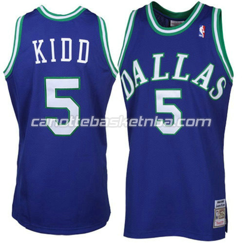 canotta nba jason kidd #5 dallas mavericks throwback blu