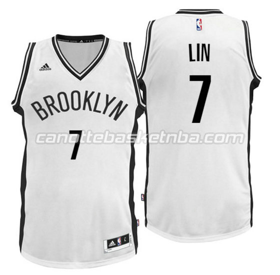 canotte nba jeremy lin 7 brooklyn nets 2016 bianca