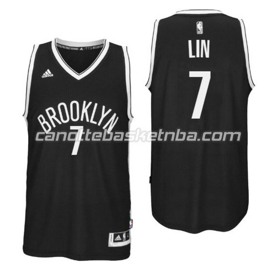canotte nba jeremy lin 7 brooklyn nets 2016 nero