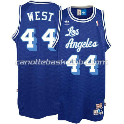 canotta los angeles lakers con jerry west #44 soul blu