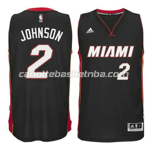 canotta miami heat 2014-2015 con joe johnson #2 nero