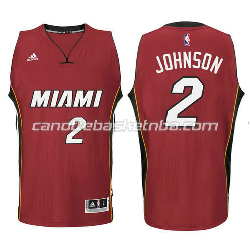 canotta joe johnson #2 miami heat 2014-2015 rosso