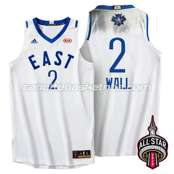 canotte basket john wall #2 nba all star 2016 bianca