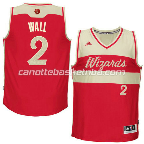 canotte john wall #2 washington wizards natale 2015 rosso