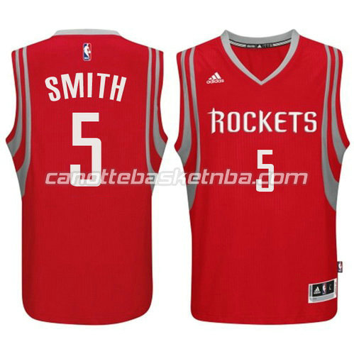canotta houston rockets 2014-2015 con josh smith #5 rosso