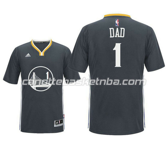 maglietta dad logo 1 golden state warriors 2016 nero