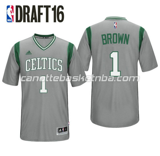 maglietta jaylen brown 1 boston celtics draft 2016 grigio