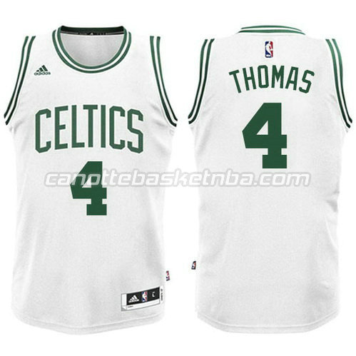 nuova canotta isiah thomas #4 boston celtics bianca